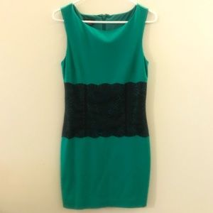 Bebe sleeveless Emerald Lace Dress
